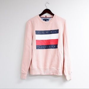 TOMMY HILFIGER OVERSIZED PINK COTTON PULLOVER 💕